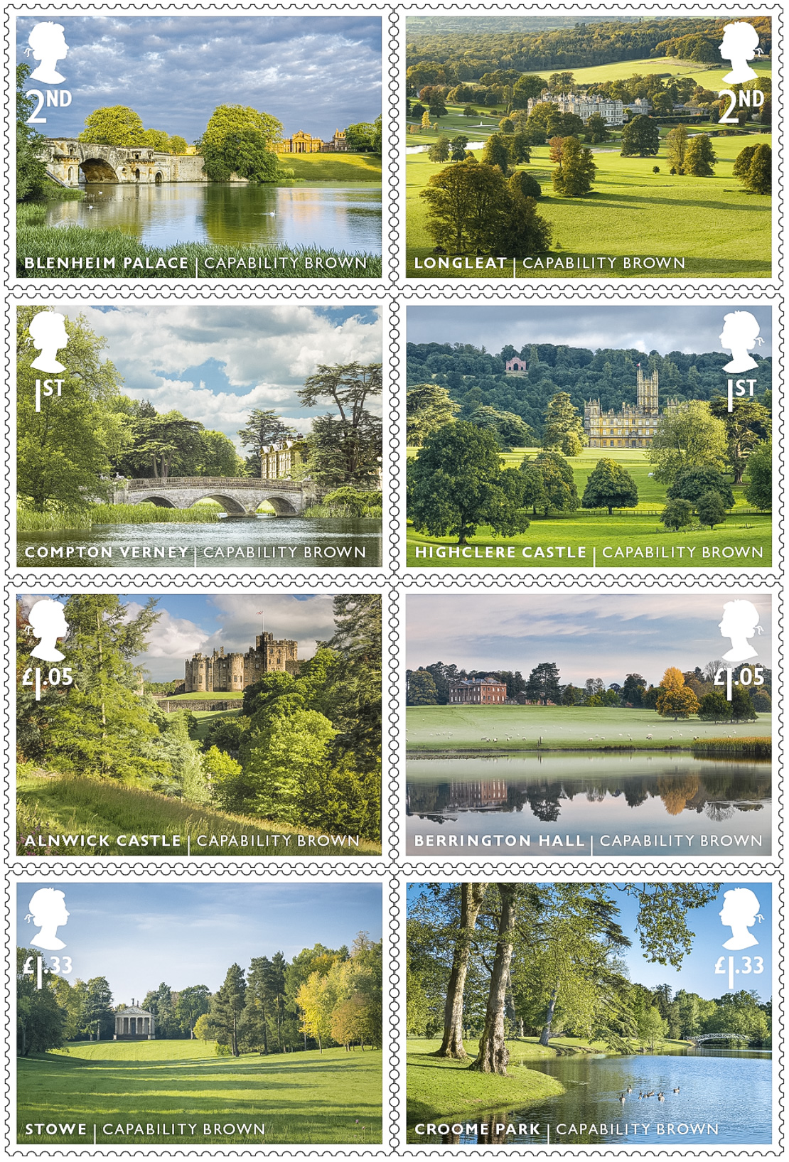 Capability Brown Stamps