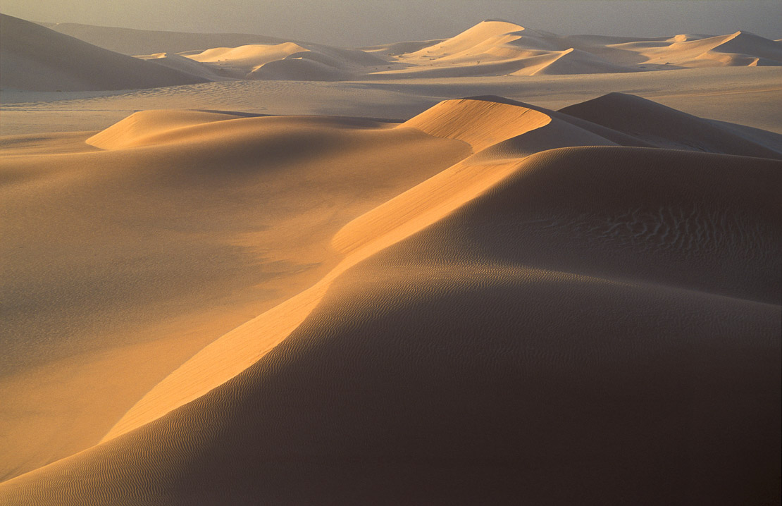 sand dunes in the the Namib desert at dawn, Namibia