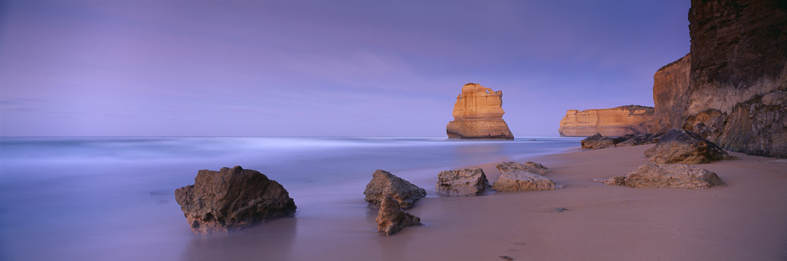 the eroded coastline of Port Campbell National Park, Great Ocean Road, Victoria, Australia