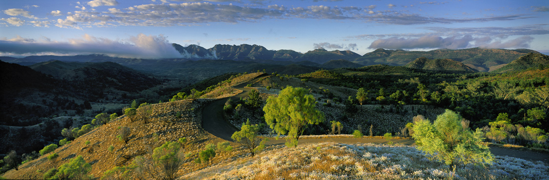 dirt road above Bunyerro Gorge, Flinders Ranges, South Australia, Australia