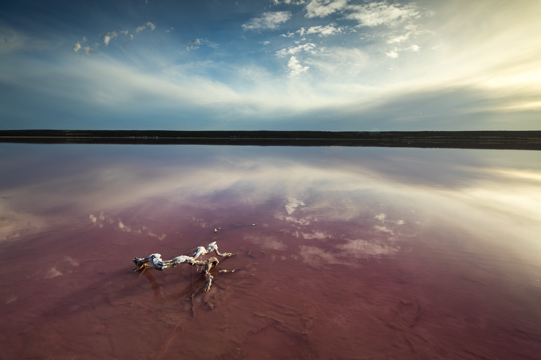 the pink lagoon at Port Gregory, West Australia