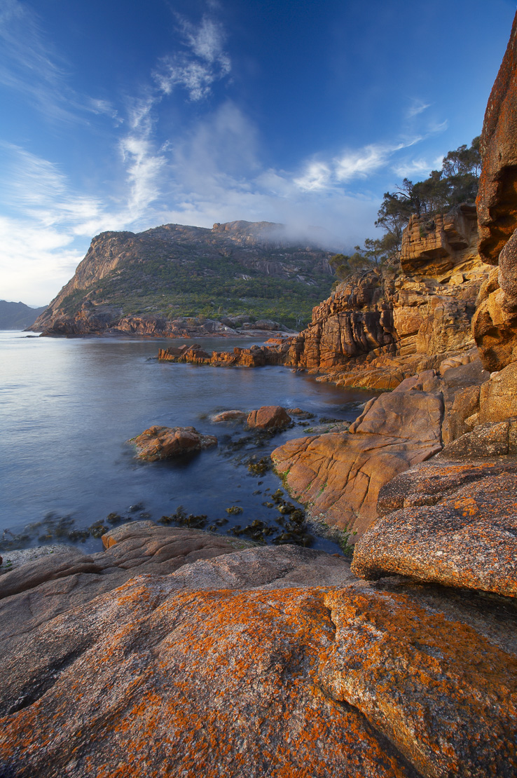 dawn at Sleepy Bay, Freycinet Peninsula, Freycinet National Park, east coast, Tasmania, Australia