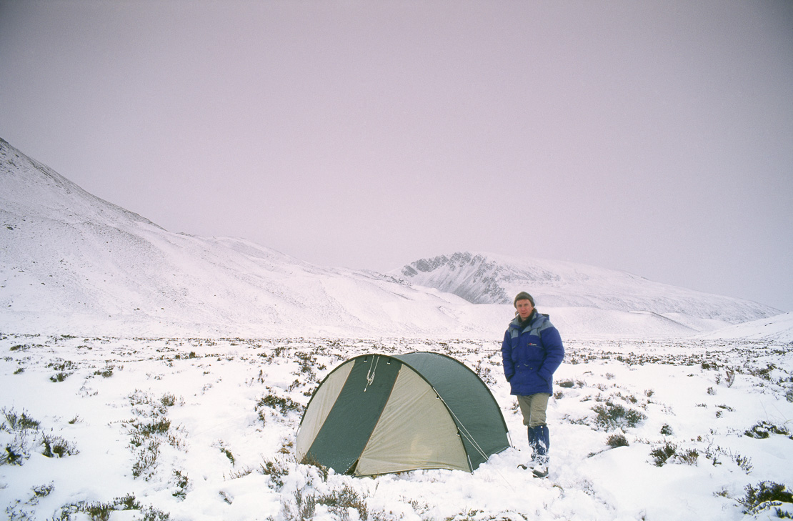 winter backpacking in the Cairngorms, Scotland, UK