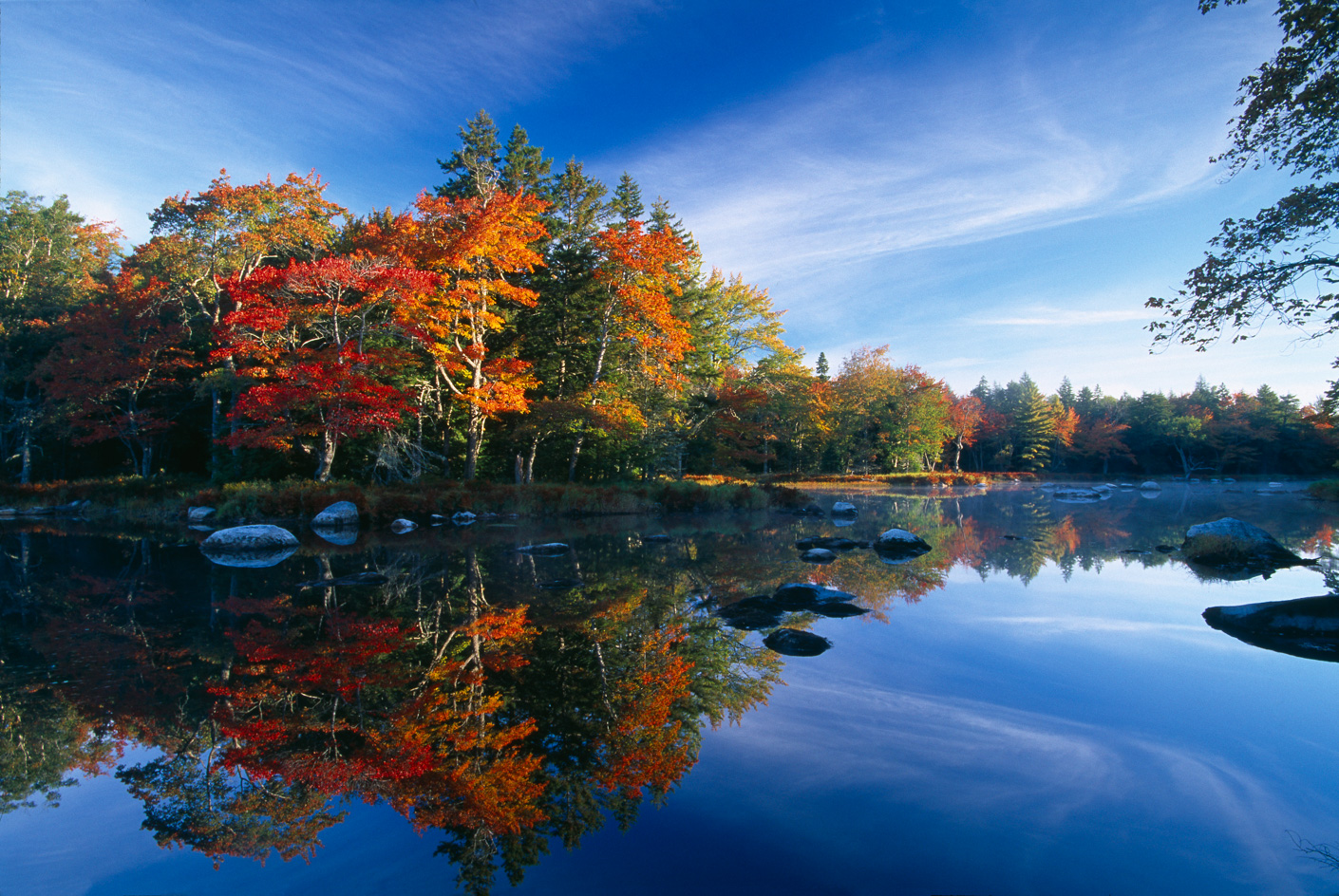 Autumn, Mersey River, Kejimkujik National Park, Nova Scotia, Canada