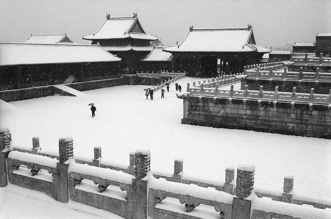 A snow covered Imperial Palace (the Forbidden City), Beijing, China