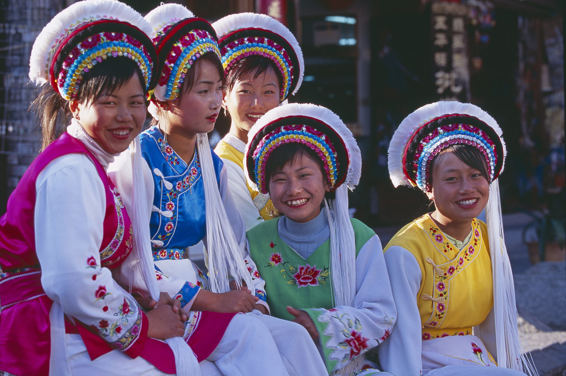 women in traditional costume, Dali, Yunnan Province, China