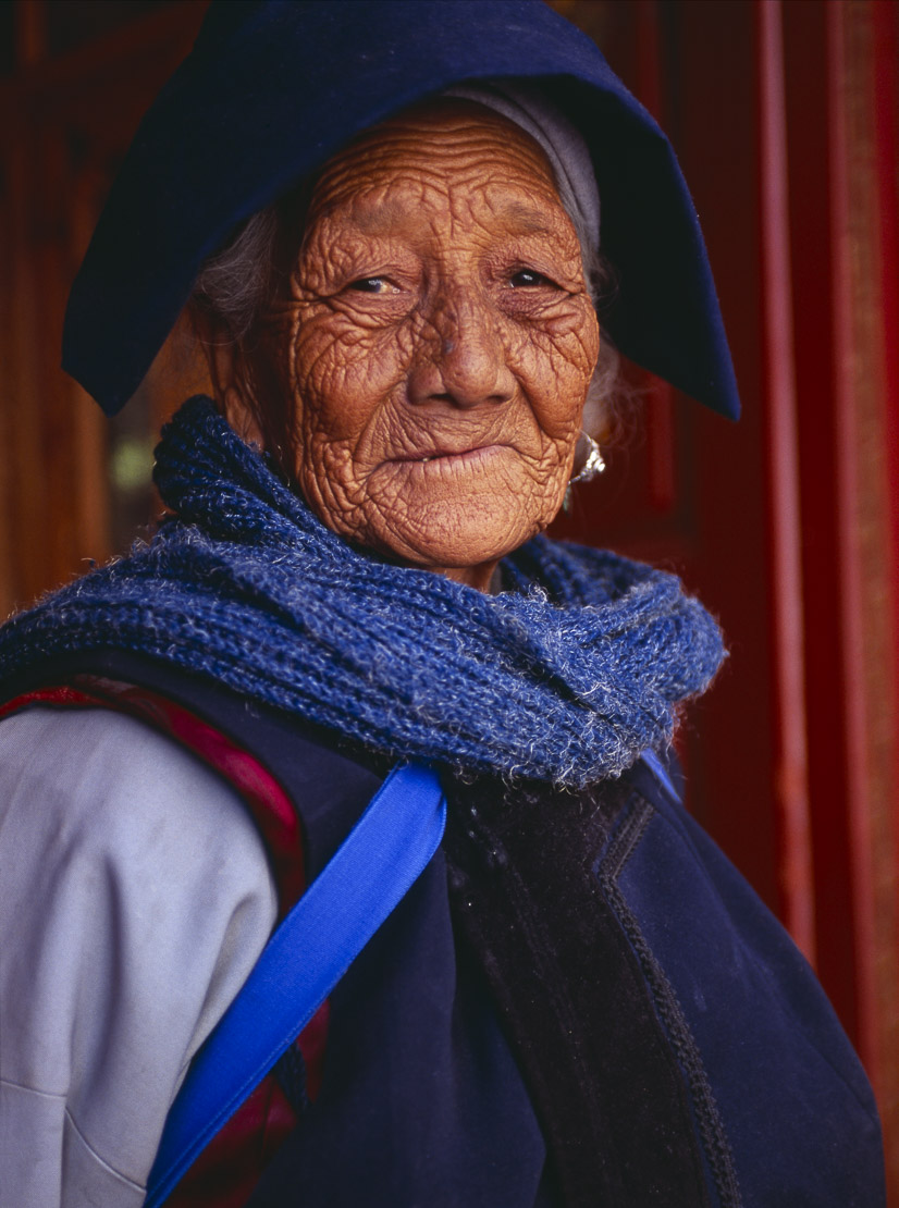 a Naxi woman, Yunnan Province, China