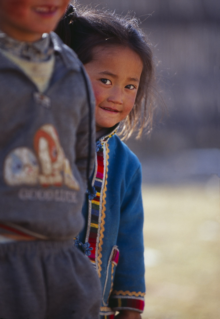 Tibetan children, Zhongdian, Yunnan, China