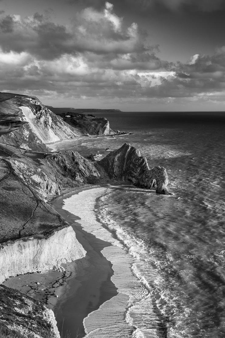 Durdle Door and the Jurassic Coast from Bat's Head, Dorset, England