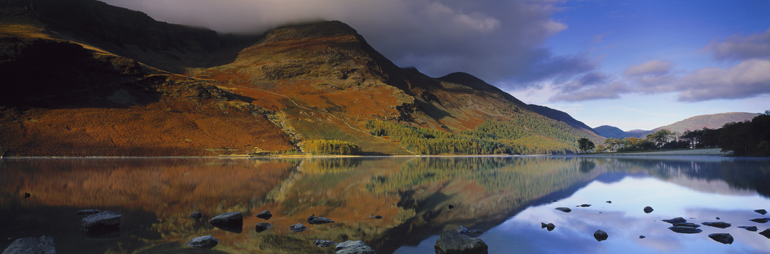 Buttermere at dawn, Lake District National Park, Cumbria, England, UK