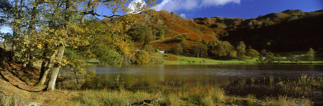 Loughrigg Tarn, nr Ambleside, Lake District National Park, Cumbria, England, UK