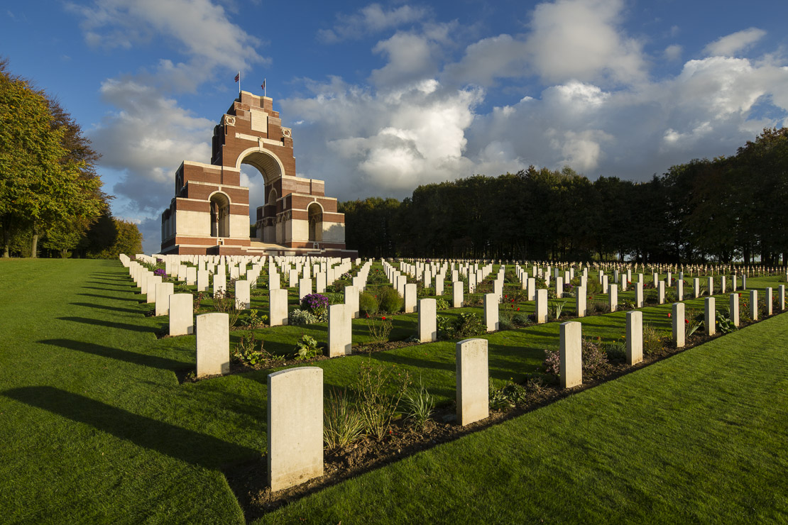 the Thiepval Memorial to the Missing of the Somme, nr Albert, Picardy, France