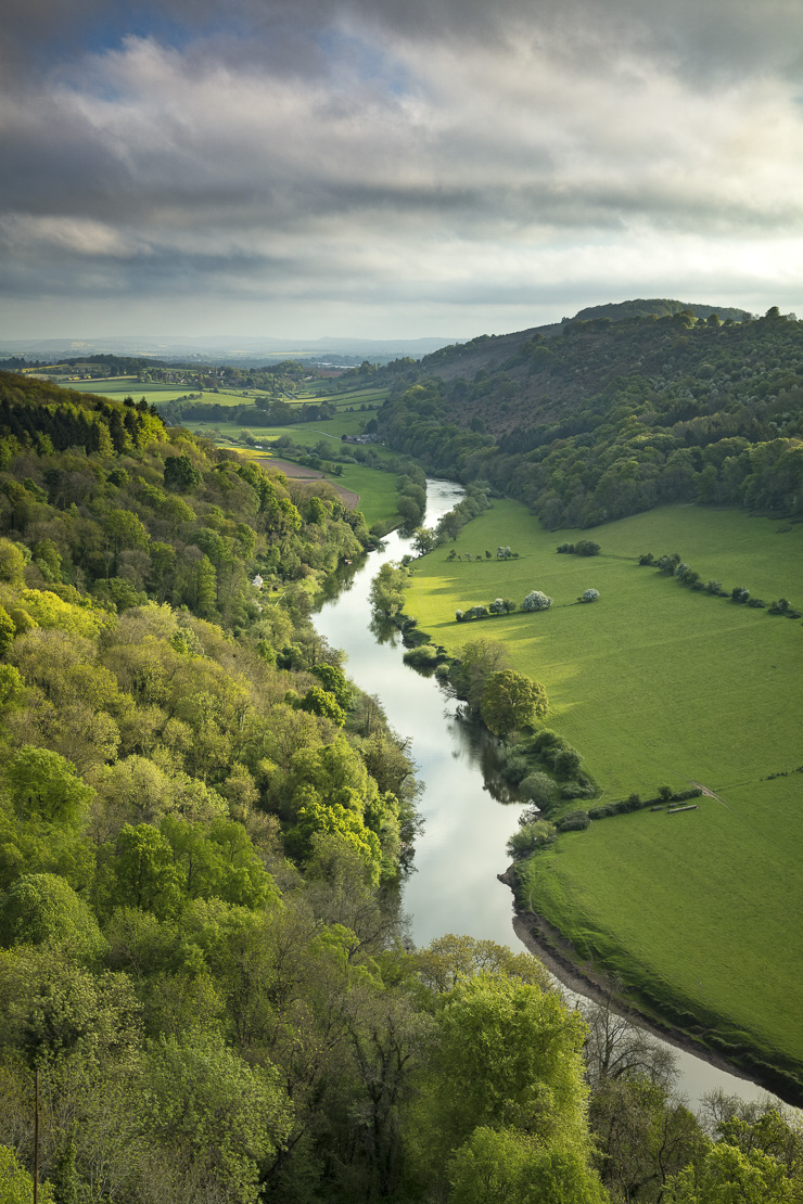 the Wye Valley from Yat Rock, Symonds Yat, Gloucestershire, England