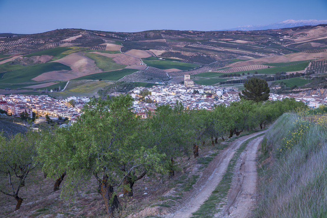 Alhama de Granada at dusk, Andalucia, Spain