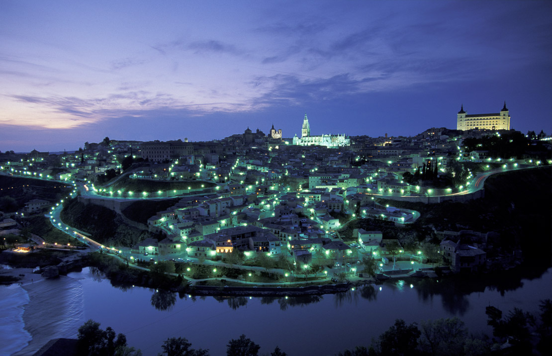 Toledo at night, Castile - La Mancha, Spain
