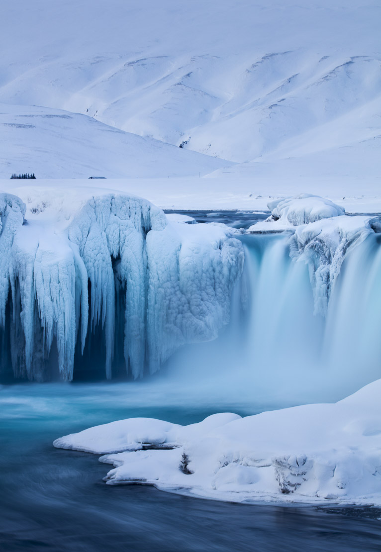 Goðafoss in winter, Bárðardalur district of North-Central Iceland