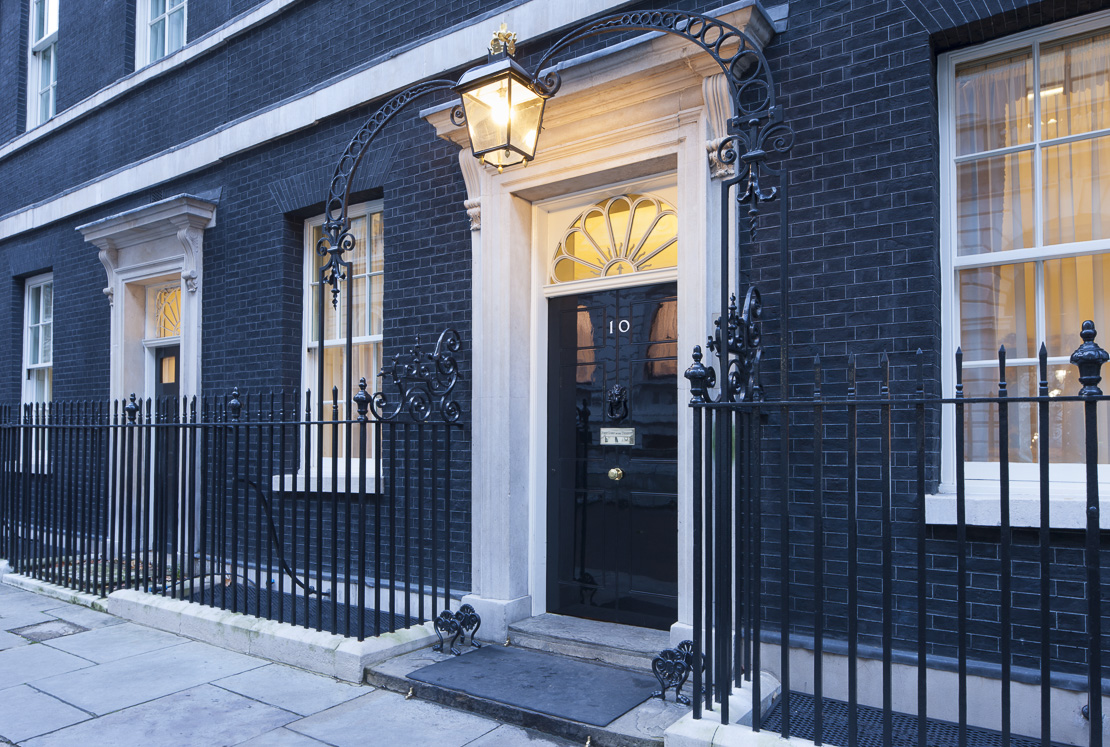 number 10 Downing Street, Whitehall, London, England