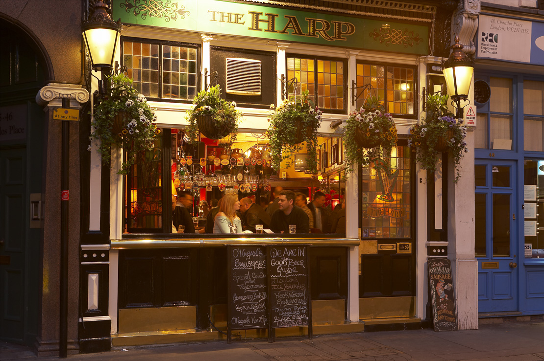 traditional London pub nr Covent Garden, the West End, London, UK