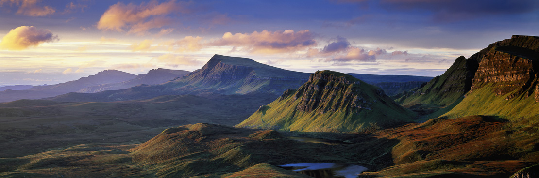 dawn on the Trotternish, nr The Quirang, Isle of Skye, Scotland, UK