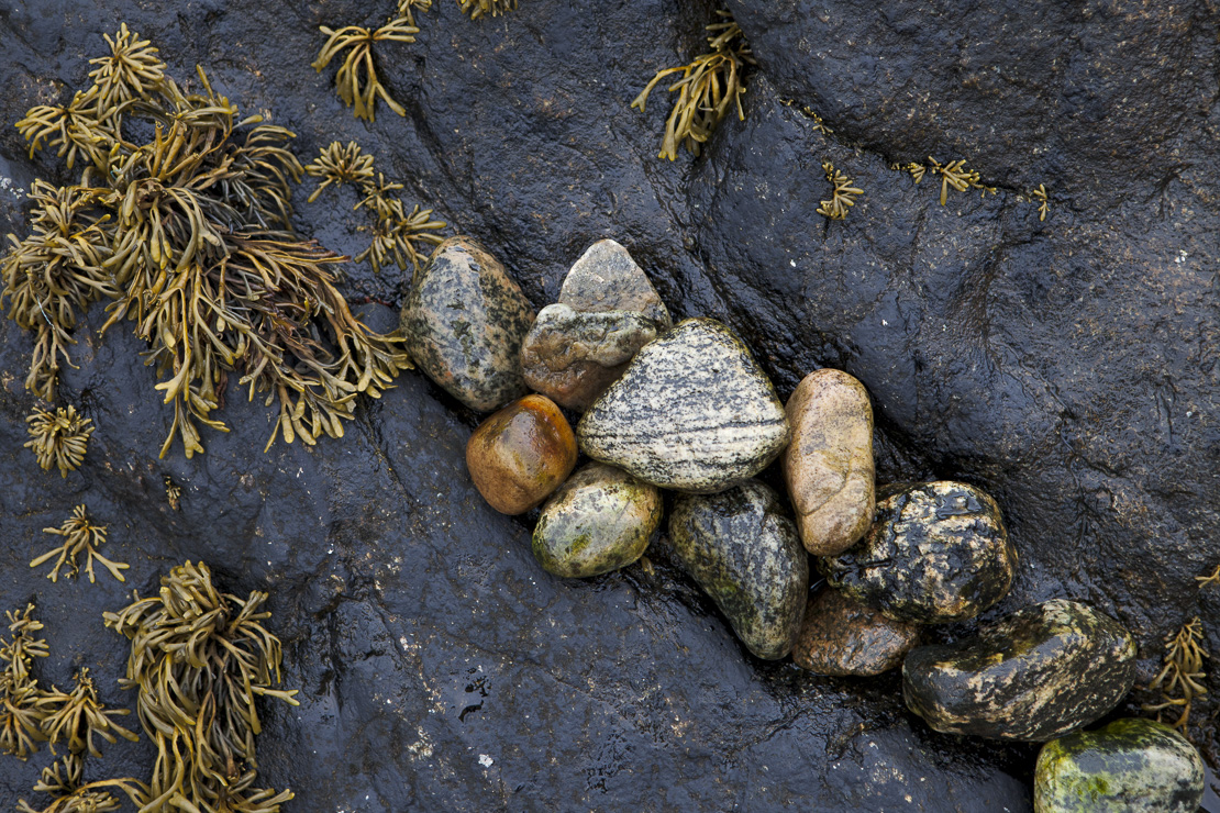 details on the beach at Lochinver, Sutherland, Scotland, UK