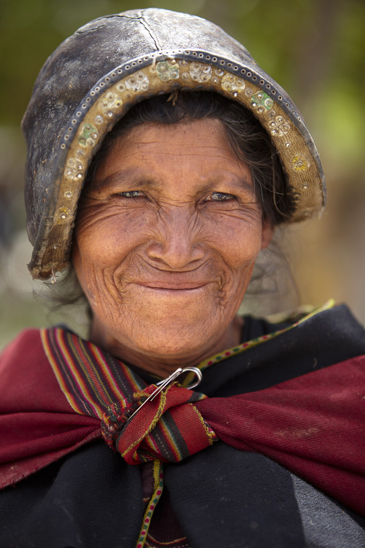 a local woman in the market at Tarabuco, Bolivia