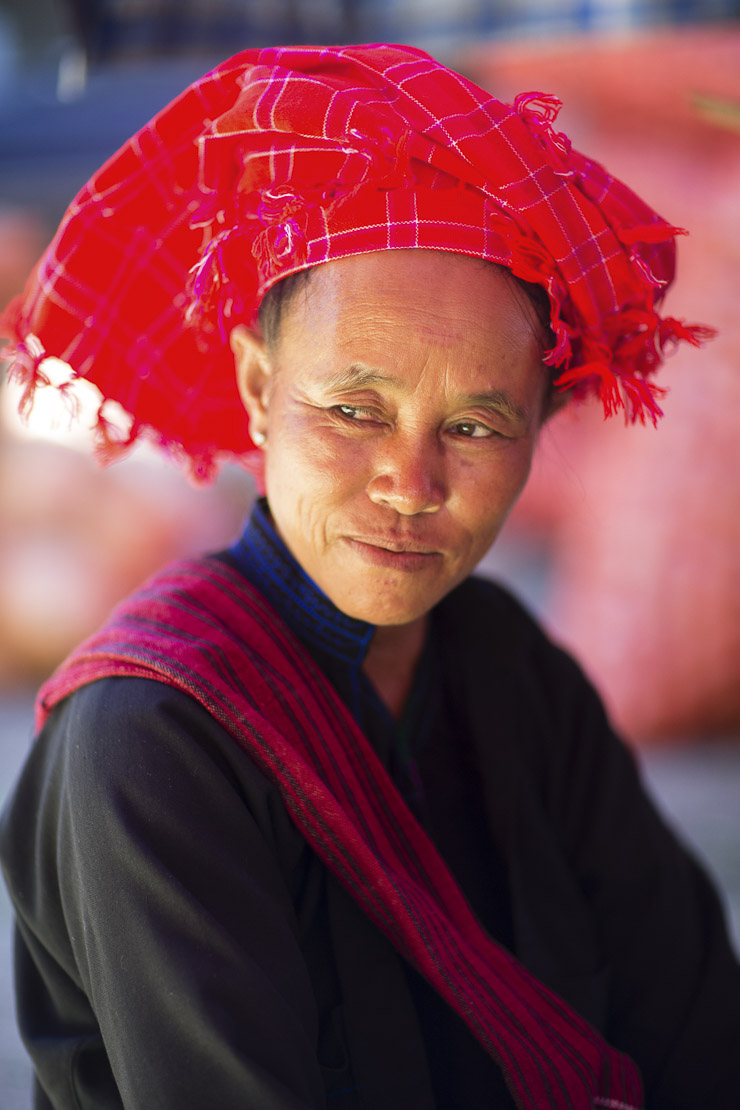 a lady in the market at Nyaungshwe, on Inle Lake, Myanmar (Burma)