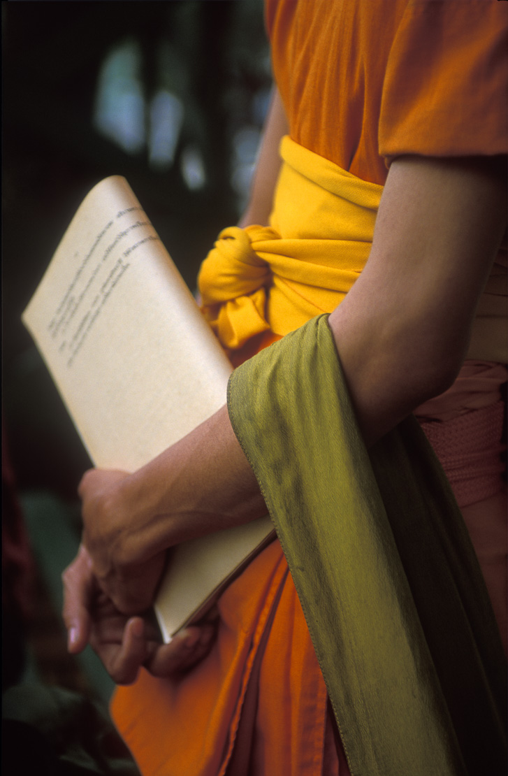 Monk (detail of robes), Chiang Mai, Thailand