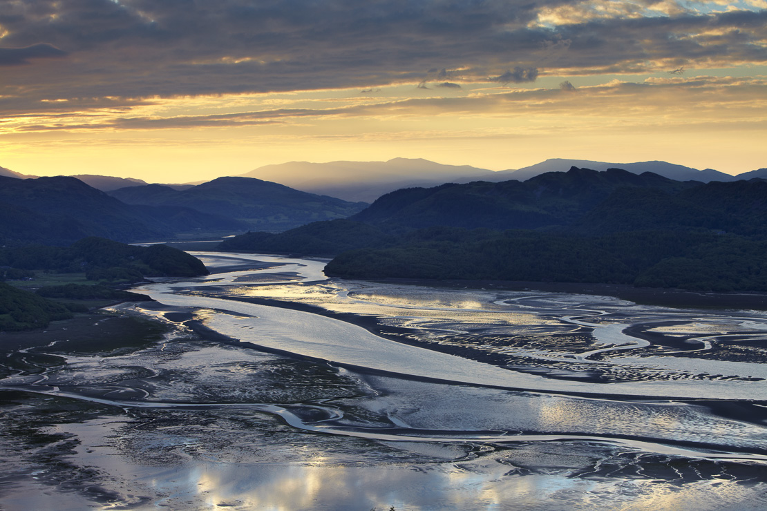 the Mawddach Estuary at dawn, Snowdonia, Wales