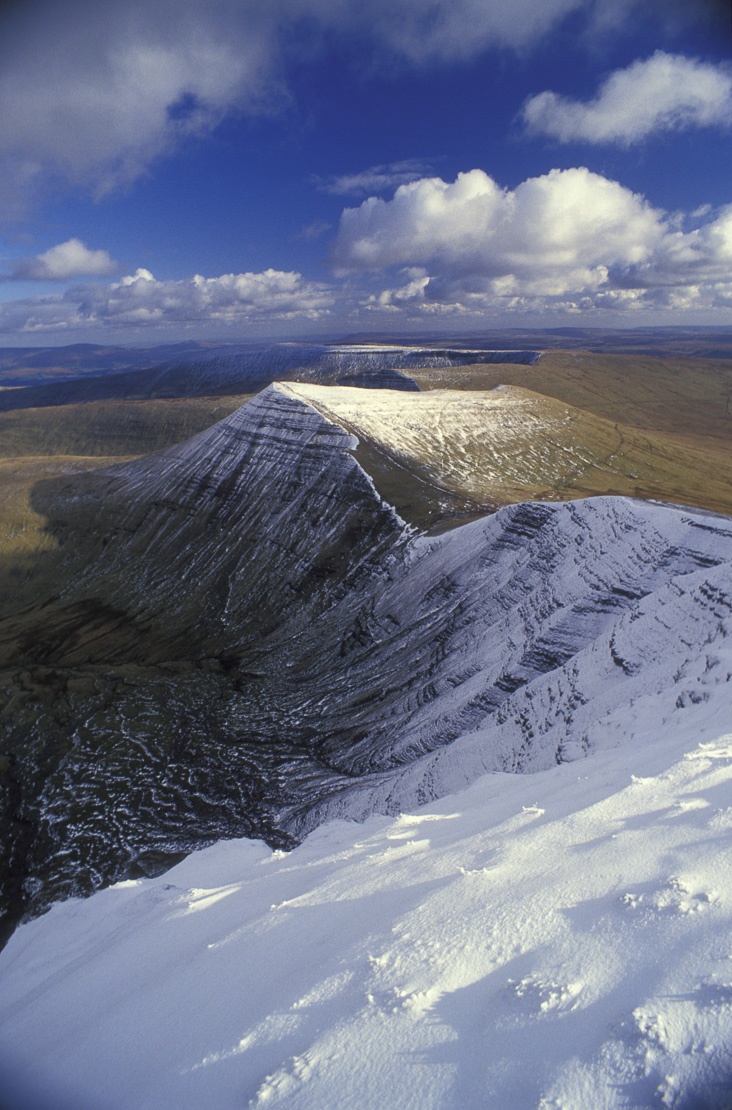 winter in the Brecon Beacons, Powys, Wales, UK